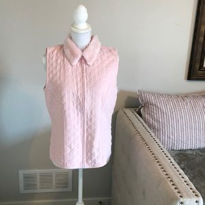 """Pretty in pink"" AGB fur collar vest L"
